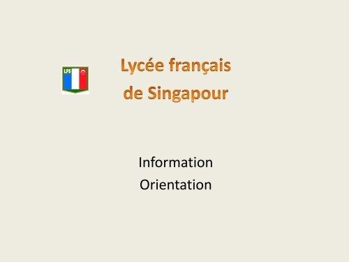 Les 1 ères années commune de santé - Lycée français de Singapour