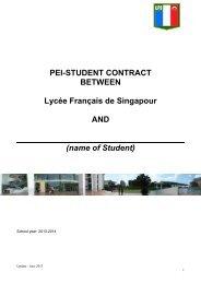 name of Student - Lycée français de Singapour