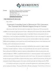 Veterans PTSD Support Group Offered - Moorestown VNA