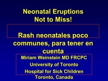 Neonatal Eruptions Not to Miss! Rash neonatales poco ... - Alape