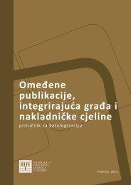 Omeđene publikacije, integrirajuća građa i nakladničke cjeline - NSK