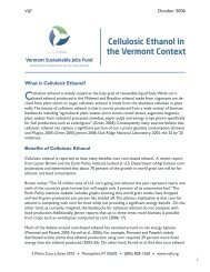 Cellulosic Ethanol in the Vermont Context - Vermont Sustainable ...
