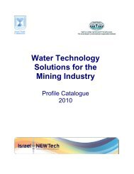 Water Technology Solutions for the Mining Industry