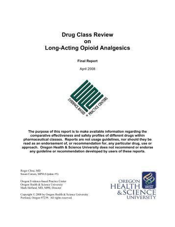 Drug Class Review - Giving to OHSU - Oregon Health & Science ...