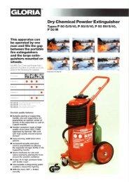 Dry Chemical Powder Extinguisher Types P 50 615/10 ... - Tecniquitel
