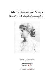 Biografie von Marie Steiner (PDF 50 Seiten) - Bewegte Worte