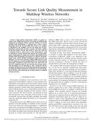 Towards Secure Link Quality Measurement in ... - IEEE Xplore