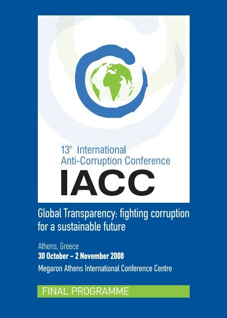 Final Programme - 13th International Anti-Corruption Conference