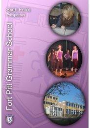 Welcome to FPGS Sixth Form - Fort Pitt Grammar School