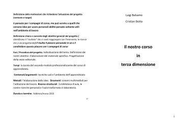 Il nostro corso in terza dimensione (Balsamo Luigi e Dotta ...