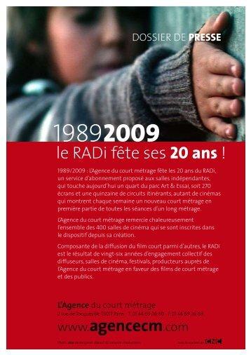 le RADi fête ses 20 ans - L'Agence du court métrage