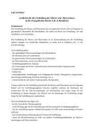 Leitlinien für die Fortbildung der Pfarrer und Pfarrerinnen