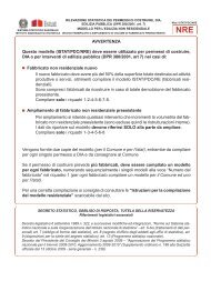 AVVERTENZA Questo modello (ISTAT/PDC/NRE) - Comune di ...