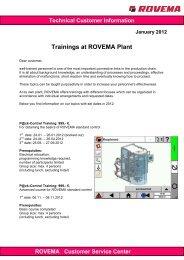 Technical Customer Information ROVEMA Customer Service Center
