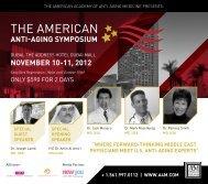 mD, usA - American Academy of Anti-Aging Medicine
