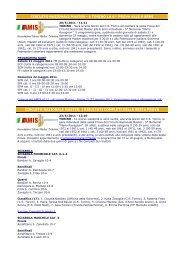 circuito nazionale master - a torino la 6^ prova alle 6 armi circuito ...