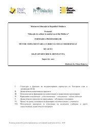 Ministerul Educa iei al Republicii Moldova Proiectul ... - Pro Didactica
