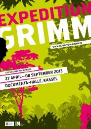 08 September 2013 DOCUmeNtA-HAlle, KASSel - Expedition Grimm