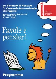 Programma - La Biennale di Venezia 4. Carnevale Internazionale ...