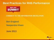 RHS performance best practices - Red Hat Summit