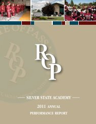 2011 Annual Performance Report - Silver State Academy