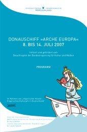 Arche Europa Programm 2007 (PDF) - Märchenland - Deutsches ...