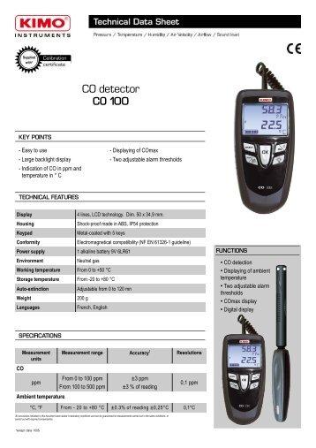 CO detector CO 100 - Kimo