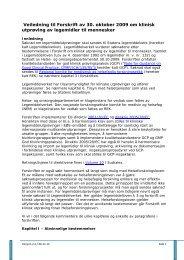 Veiledning til Forskrift av 30. oktober 2009 om klinisk utprøving av ...