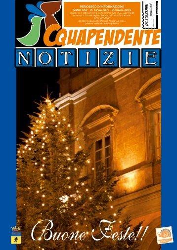 Novembre - Dicembre 2010 - Comune di Acquapendente