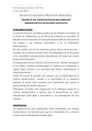 PROYECTO DE CAPACITACION EN RECLAMACION ... - UnTER