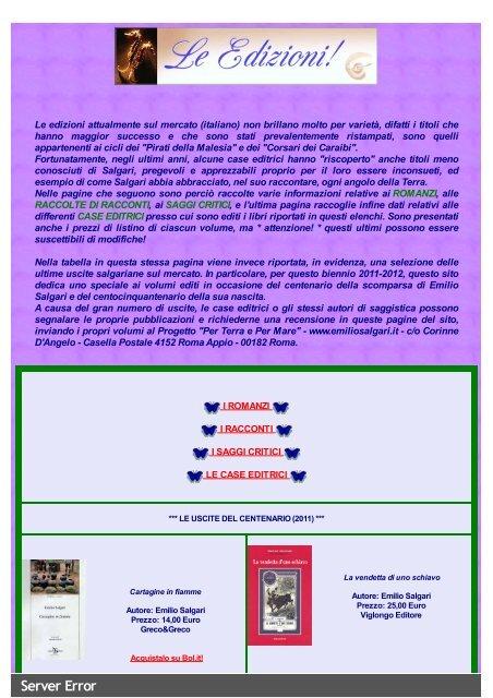 Salgari: Edizioni sul mercato - Miraggi Edizioni