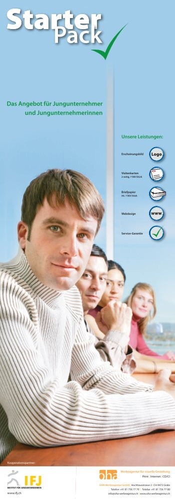 Das Angebot für Jungunternehmer und ... - OHA Werbeagentur GmbH