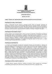 Técnico de Laboratório/ Área: Métodos Quantitativos Aplicados