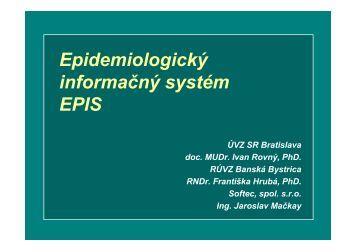 Epidemiologický informačný systém EPIS