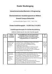 Dualer Studiengang Industriemechaniker/Bachelor of ... - BBS Wittlich