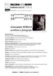 Giovanni VERGA scrittore e fotografo - Fondazione 3M