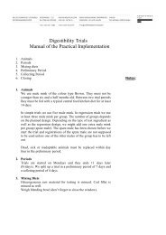 Digestibility Trials Manual of the Practical ... - Kopenhagen Fur