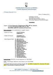 Convocazioni arbitrali gare del 3/4 marzo a Bologna - Comitato ...