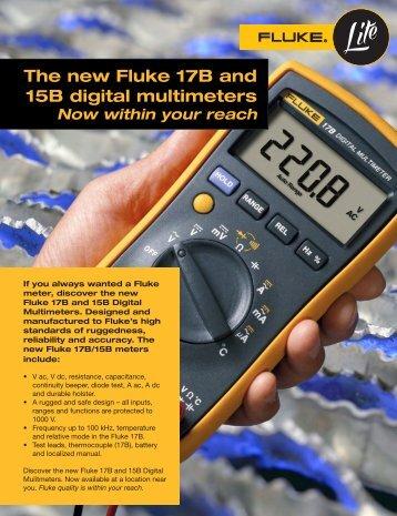 The new Fluke 17B and 15B digital multimeters - CST Electronics