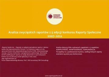 Analiza_zwycieskich_raportow_2007_2011 - Raporty Społeczne