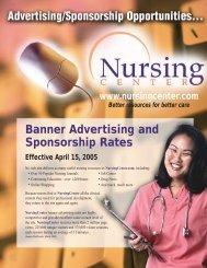 Banner Advertising and Sponsorship Rates ... - Nursing Center