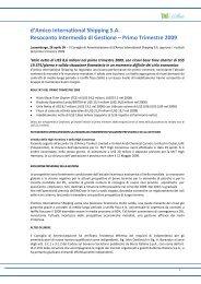 Relazione finanziaria - Investor Relations