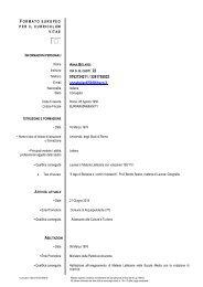 Curriculum Vitae - Comune di Acquapendente