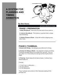 A SYSTEM FOR PLANNING AND TIMING ANIMATION