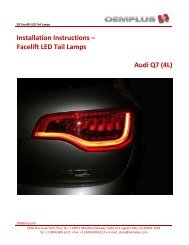Q7 LED Tail Lamps - OEMplus
