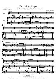 Seid ohne Angst - Schmidmusic.de