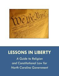 LESSONS IN LIBERTY - ACLU of North Carolina
