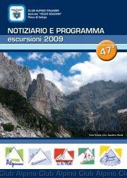 libretto 2009 - CAI – Club Alpino Italiano Sezione di Pieve di Soligo