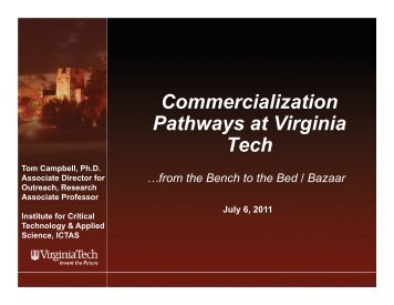 Commercialization Pathways at Virginia Tech - Institute for Critical ...