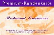Restaurant Mustermann